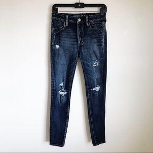 American Eagle 360 Super Stretch Distressed Jeans